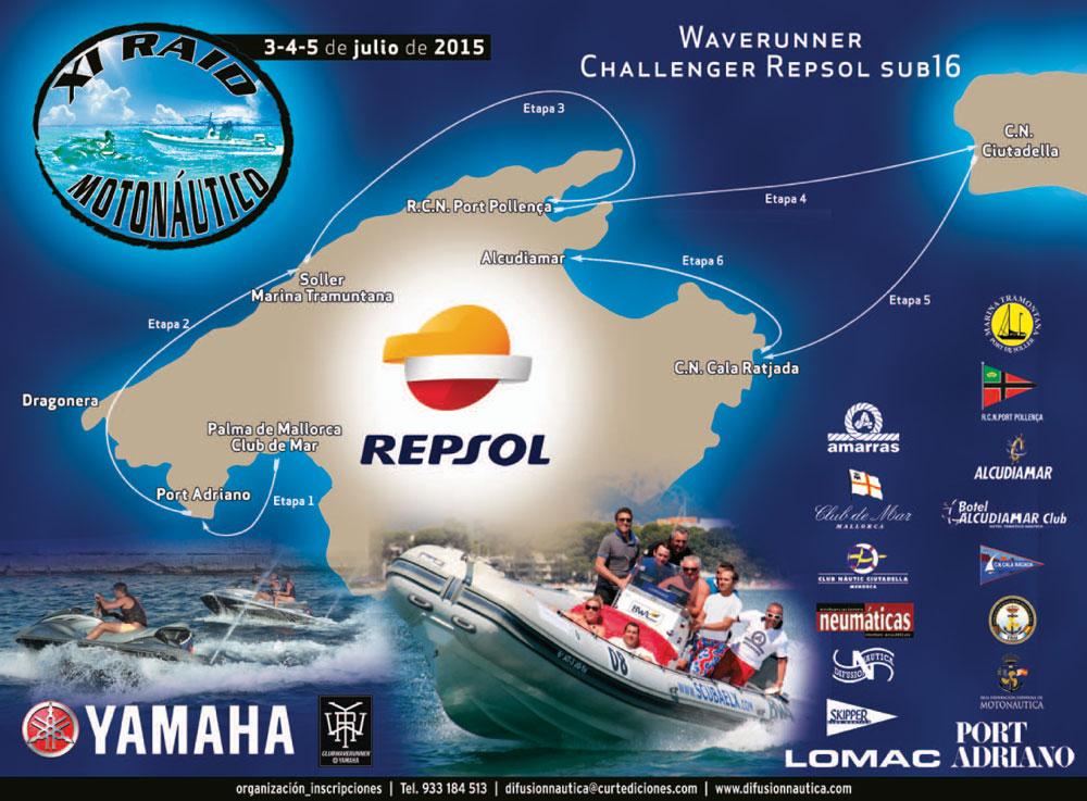 Imagen de la regata XI RAID MOTONÁUTICO
